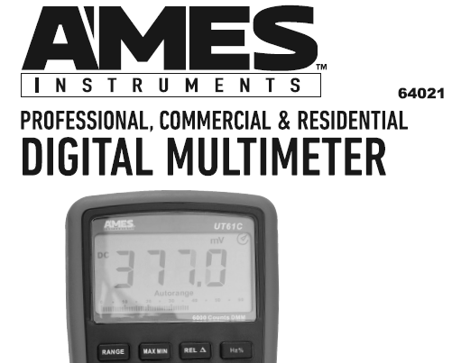 Greyghost | Harbor Freight/Ames Instruments DM1010 Digital