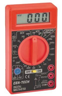 Greyghost | Cen-Tech 92020 Multimeter Constant Backlight