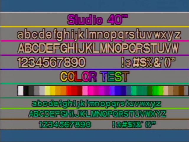 Knox Studio 40 ND Character Generator Trouble - Videokarma